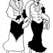 1930s Deco Ladies Art Print