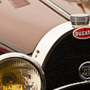 1931 Bugatti Type 55 Roadster Grille Emblem Art Print