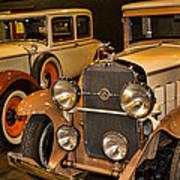 1931 La Salle Series 345r And 1929 Packard Roadster Art Print