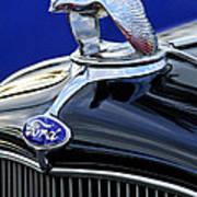 1932 Ford V8 Hood Ornament Art Print