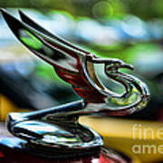 1934 Chevrolet Flying Eagle Hood Ornament - 2 Art Print