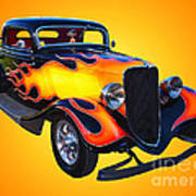 1934 Ford 3 Window Coupe Hotrod Art Print