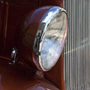 1934 Ford Headlight And Grill Art Print