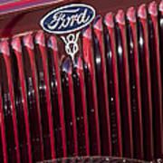 1934 Ford V8 Emblem 2 Art Print