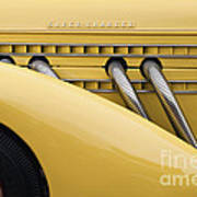 1935 Auburn 851 Sc Speedster Detail - D008160 Art Print by Daniel Dempster