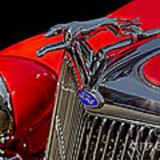 1936 Ford Model 48 Emblem Art Print