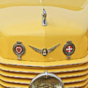 1937 Cord 812 Sc Convertible Phaeton Sedan Grille Emblems Art Print