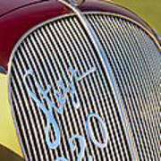 1938 Steyr 220 Glaser Roadster Grille Emblem Art Print