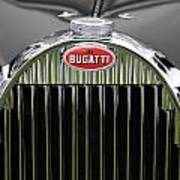 1939 Bugatti Type 57 Galibier Sports Saloon Hood Emblem Art Print