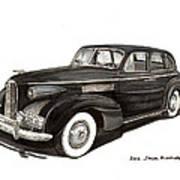 1939 Lasalle Sedan Classic Art Print