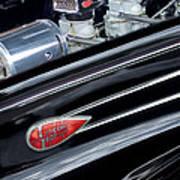 1939 Lincoln Zephyr Engine Art Print