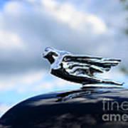 1941 Cadillac Hood Ornament - The Goddess Art Print
