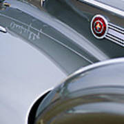 1941 Packard 1907 Custom Eight One-eighty Lebaron Sport Brougham Side Emblems Art Print