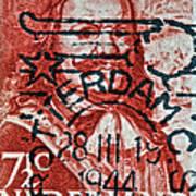 1944 Netherlands De Ruyter Stamp - Rotterdam Cancelled Art Print