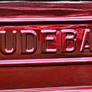 1947 Studebaker Tail Gate Cherry Red Art Print