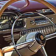 1949 Cadillac Sedanette Steering Wheel Art Print