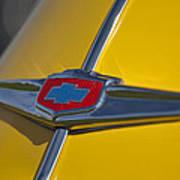 1949 Chevrolet Sedan Hood Emblem Art Print