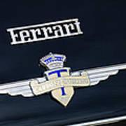 1950 Ferrari Carrozz Touring Milano Emblem Art Print