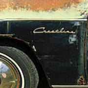1950 Ford Crestliner Wheel Emblem Art Print