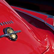 1950 Oldsmobile Rocket 88 Rear Emblem And Taillight Art Print