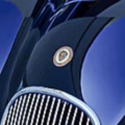 1951 Jaguar Proteus C-type Grille Emblem 4 Art Print by Jill Reger