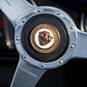 1951 Jaguar Steering Wheel Emblem Art Print
