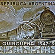 1951 Republica Argentina Stamp Art Print