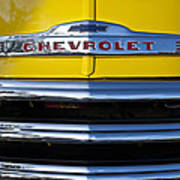 1952 Chevrolet Grille Emblem Art Print