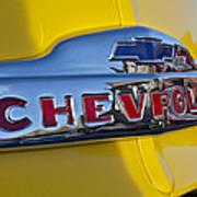 1952 Chevrolet Hood Emblem Art Print
