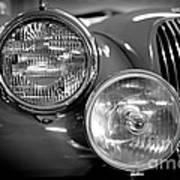 1952 Jaguar Headlights Art Print