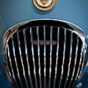 1952 Jaguar Hood Ornament And Grille Art Print
