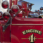 1952 L Model Mack Pumper Fire Truck 2 Art Print