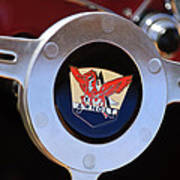 1953 Arnolt Mg Steering Wheel Emblem Art Print