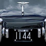 1953 Bentley Rear View License Plate Art Print