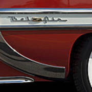 1953 Chevrolet Belair Emblem Art Print
