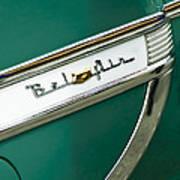 1953 Chevrolet Belair Side Emblem Art Print
