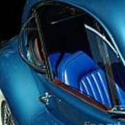 1953 Jaguar 120m Wind Wings Art Print