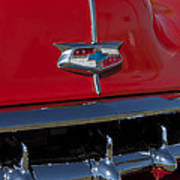 1954 Chevrolet Convertible Hood Emblem Art Print