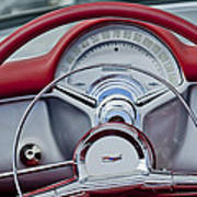 1954 Chevrolet Corvette Steering Wheel Art Print