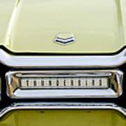 1954 Ford Thunderbird Taillight Emblem Art Print