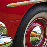 1954 Hudson Hornet Wheel And Emblem Art Print