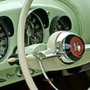 1954 Kaiser Darrin Steering Wheel Art Print