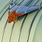 1954 Pontiac Chieftain Hood Ornament Art Print
