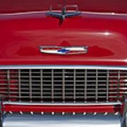 1955 Chevrolet 210 Hood Ornament And Grille Art Print