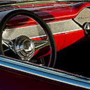 1955 Chevrolet 210 Steering Wheel Art Print
