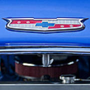 1955 Chevrolet Belair Hood Emblem 4 Art Print