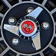 1955 Chevrolet Truck Wheel Rim Art Print