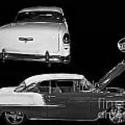 1955 Chevy Bel Air 2 Door Hard Top Art Print