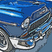 1955 Chevy Bel Air Front Study Art Print by Samuel Sheats