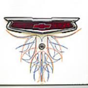 1955 Chevy Emblem Art Print